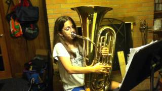 7th Grade Tuba Player Playing the Ride
