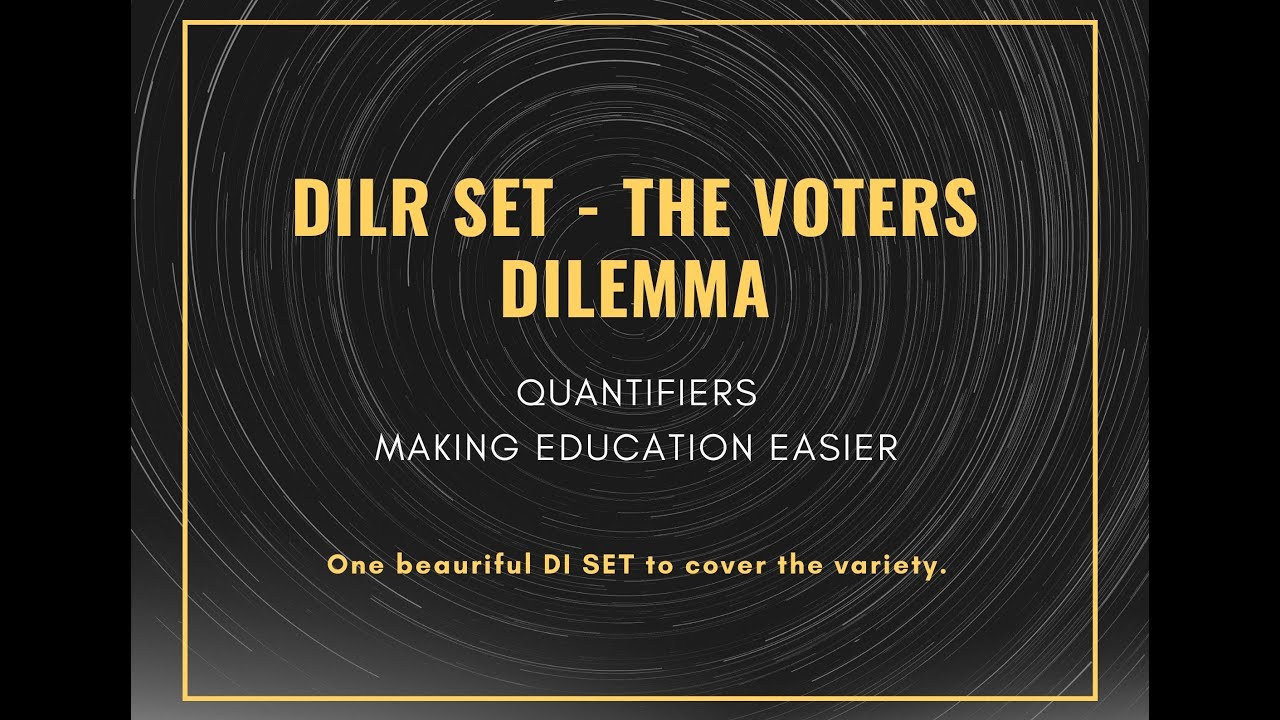 Download CAT DILR    The Voters Dilemma -- Must Do CAT Set