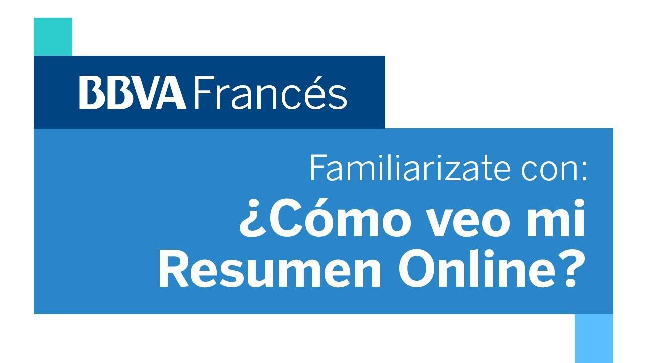 Bbvafacil Familiarizate Con Tu Resumen Online