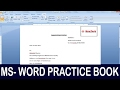 Exercise 07 | Ms Word Practice Book | How To Make Job Letter Ms Word