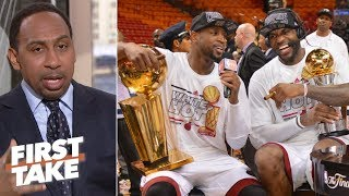 'LeBron is a champion because of D-Wade' - Stephen A. l First Take