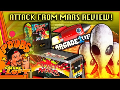 Arcade1Up Attack From Mars Pinball Review! from PDubs Arcade Loft