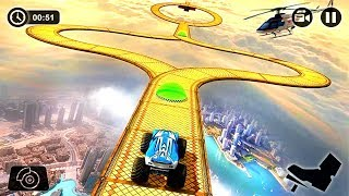 Crazy Monster Truck Legends 3D #3 Impossible Car Stunts Games For Kids Android Gameplay [HD]