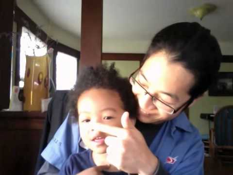 Practicing Words with the Baby