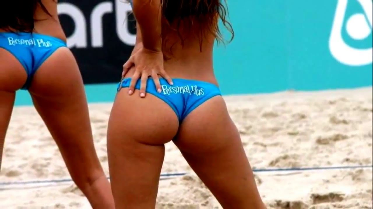 Beach nude volleyball booty