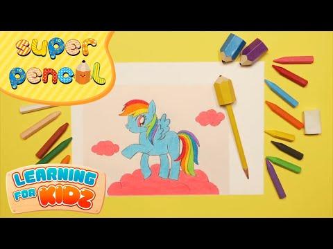 Siêu Nhân Bút Chì Tập 35 - Super Pencil Episode 35 - Dũng Cảm My Little Pony - Learning For Kidz