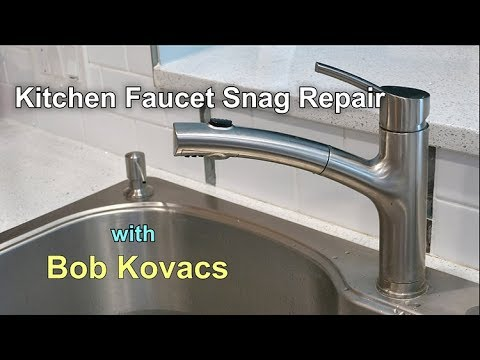 Kitchen Faucet Sprayer Won T Pull Out All The Way Here S The Fix Youtube