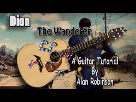 The Wanderer - Dion (Fallout 4) - Acoustic Guitar Lesson (easy)