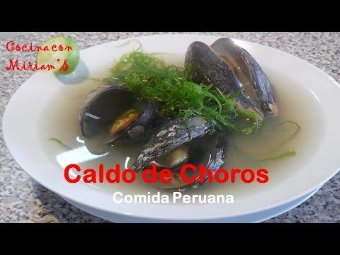 Caldo de choros recetas comida peruana youtube