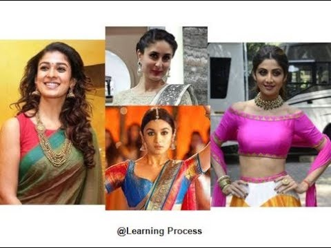 Best party or wedding Jewellery options for different saree blouse necklines | Learning Process