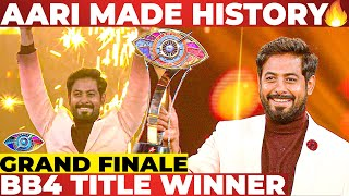 Aari's Winning Speech at Bigg Boss 4 Grand Finale BB4 Tamil Finale | Rio, Bala, Ramya