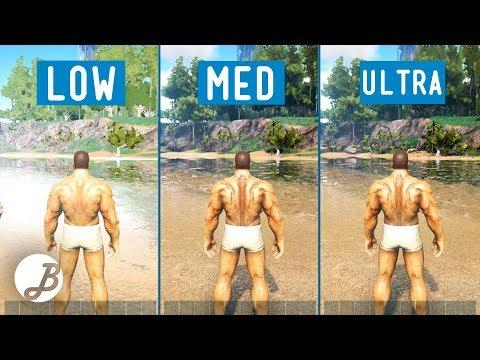 ARK  Survival Evolved    Graphic comparison   PC Low VS Mid VS Ultra