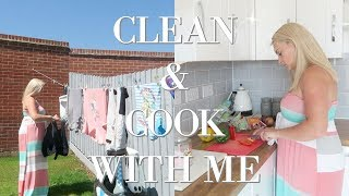 COOK AND CLEAN WITH ME 2018 | CLEANING MOTIVATION | SLIMMING WORLD HEALTHY FAMILY MEAL IDEAS
