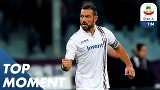 Quagliarella Scores With a Low Shot | Fiorentina 3-3 Sampdoria | Top Moment | Serie A