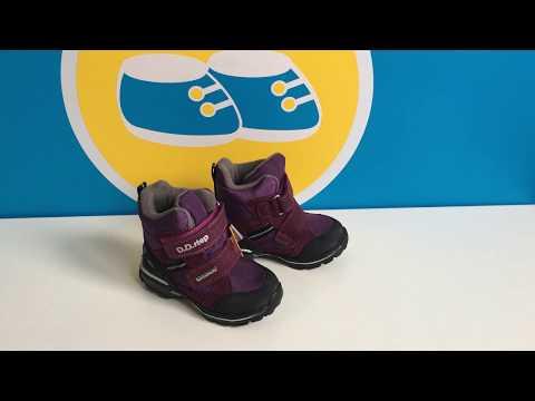 Детские зимние ботинки для девочки DD Step F651-712B