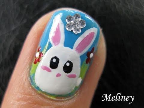 Cute animal nails art tutorial easter bun bun bunny white rabbit cute animal nails art tutorial easter bun bun bunny white rabbit egg design for short nails prinsesfo Image collections