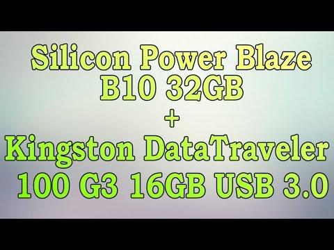 Unboxing Silicon Power Blaze B10 32GB + Kingston DataTraveler 100 G3 16GB USB 3 0