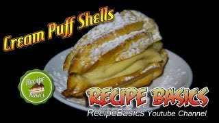 Cream Puffs Recipe With French Pastry Cream ! / Pâte à Choux