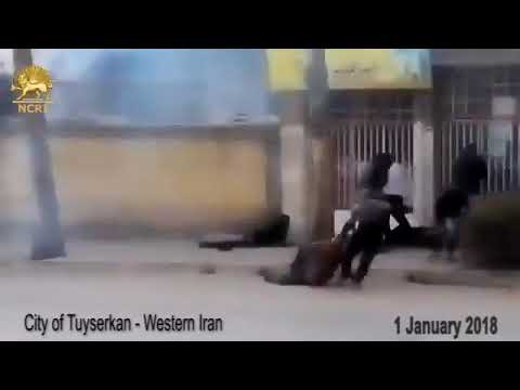 Revolutionary Guard Shoots Down Protesters in Iran