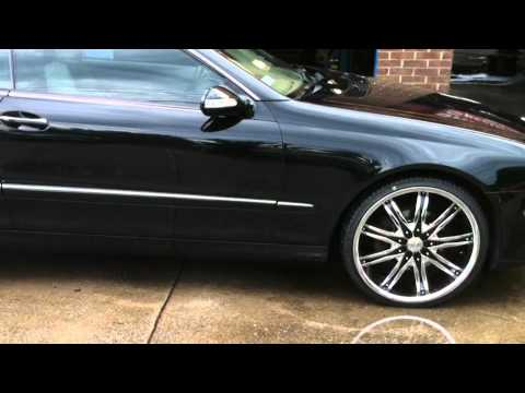 Clk Benz 2008 On 20 Quot Rims Youtube