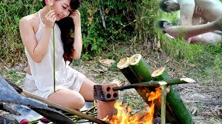 Amazing Beautiful Girl Cooking Big Fish Recipe In My Village