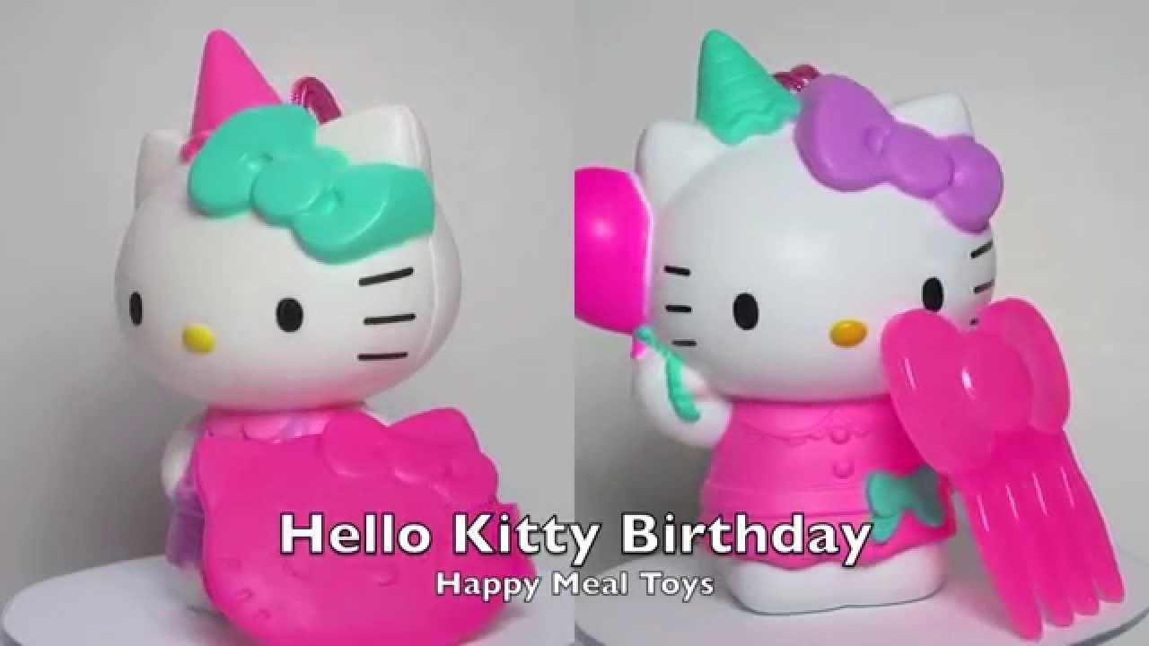 Hello Kitty Happy Meal Toys : Happy meal toys hello kitty birthday balloon youtube