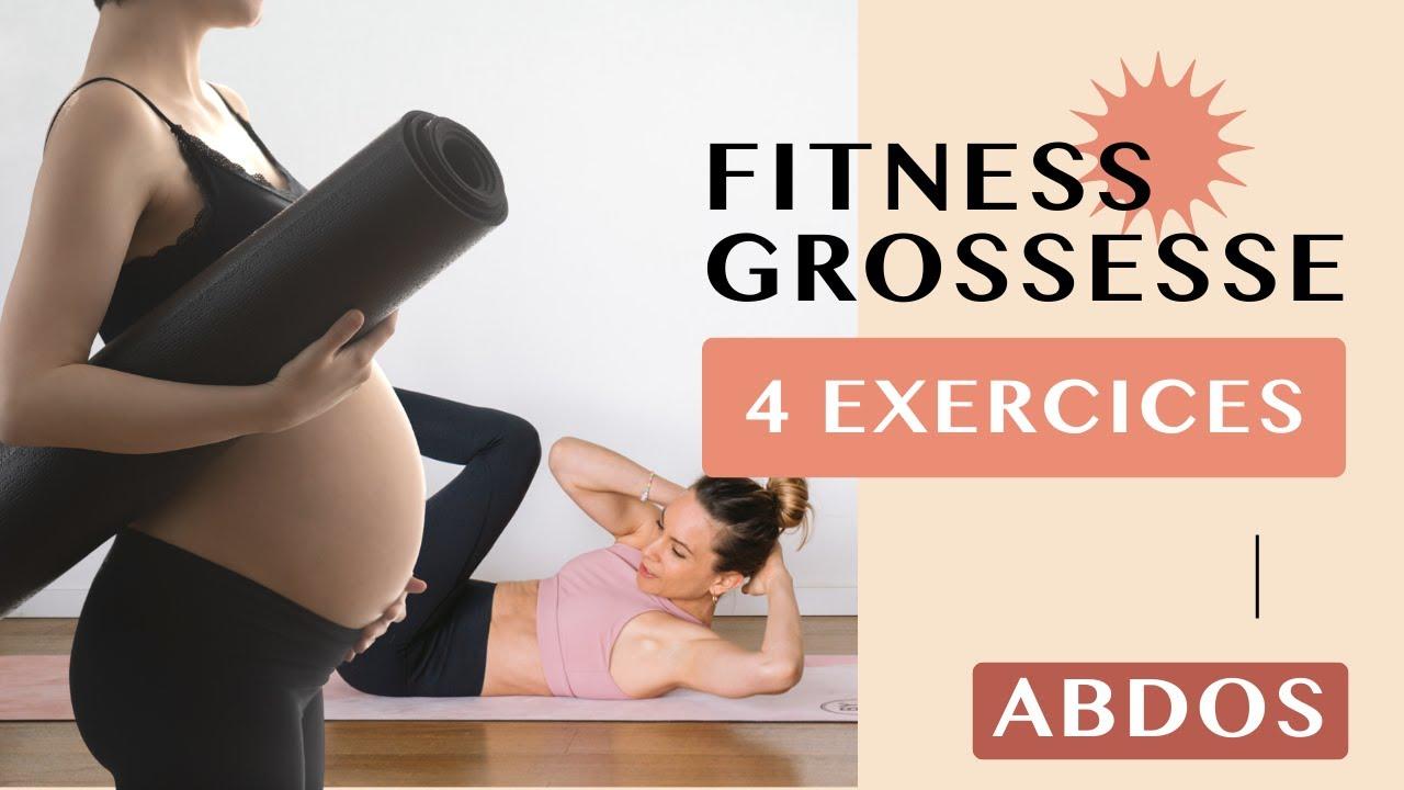 4 MEILLEURS EXERCICES ABDOMINAUX PENDANT LA GROSSESSE - YouTube ef9f74f025b