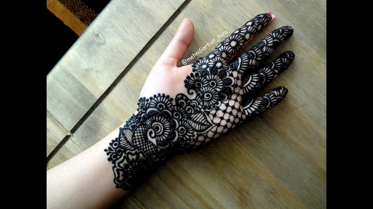 Beautiful Diwali indo/arabic unique palm stylish simple latest henna mehndi  designs for hands eid