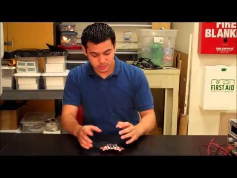 Jose shows off his light seeking robot starter project!