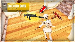 """DRUM GUN VAULTED!! NEW """"SUPPRESSED ASSAULT RIFLE"""" GAMEPLAY IN FORTNITE! NEW SILENCED SCAR UPDATE!"""