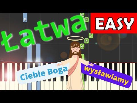 🎹 Ciebie Boga wysławiamy - Piano Tutorial (łatwa wersja) 🎹