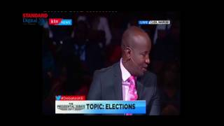 Raila Odinga gets the audience laughing at the presidential debate