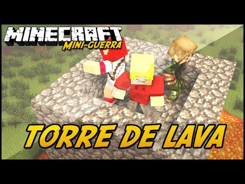 Minecraft: MINI-GUERRA - TORRE DE LAVA!