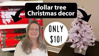 2019 DIY Decor and Decorate...Dollar Tree Christmas DIY...Mini Christmas Tree DIY...Less than $10