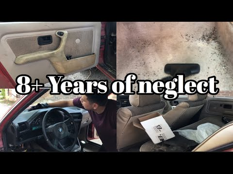 CLEANING THE BMW E30 INTERIOR FOR THE FIRST TIME IN 10 YEARS!