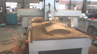 Multi Heads Woodworking Cnc Router Machine With Rotary Spindle On 180 Degree  Jessica@cccnc.cc
