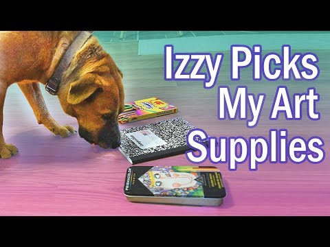 I Let My Dog Pick Out My Art Supplies (& I draw her cause she deserves it)