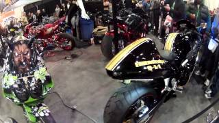 CRAZY CUSTOM BIKES AT NY MOTORCYCLE SHOW