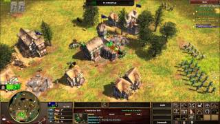 AOE3 3 games Sioux & France