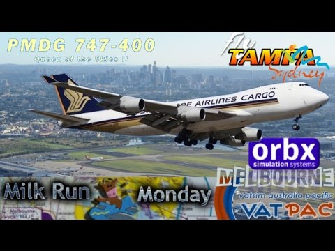 PMDG 747 QOTS2 - SQ freight on the Vatsim Milkrun