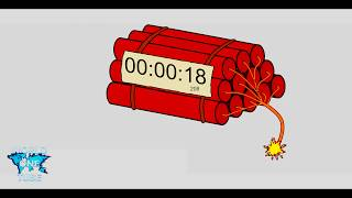 Countdown dynamite timer 2 MINUTES