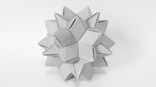 【折り紙】 大二十・十二面体のようなもの 【ユニット折り紙】