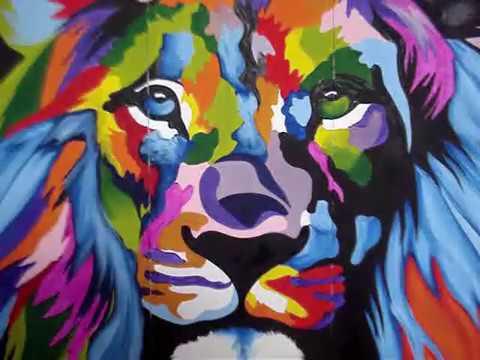 Como Pintar Un Leon De Colores Dantes Art Cuernavaca Youtube