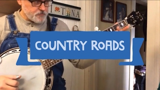 Country Roads - Walk Thru and Demo - Bluegrass Banjo