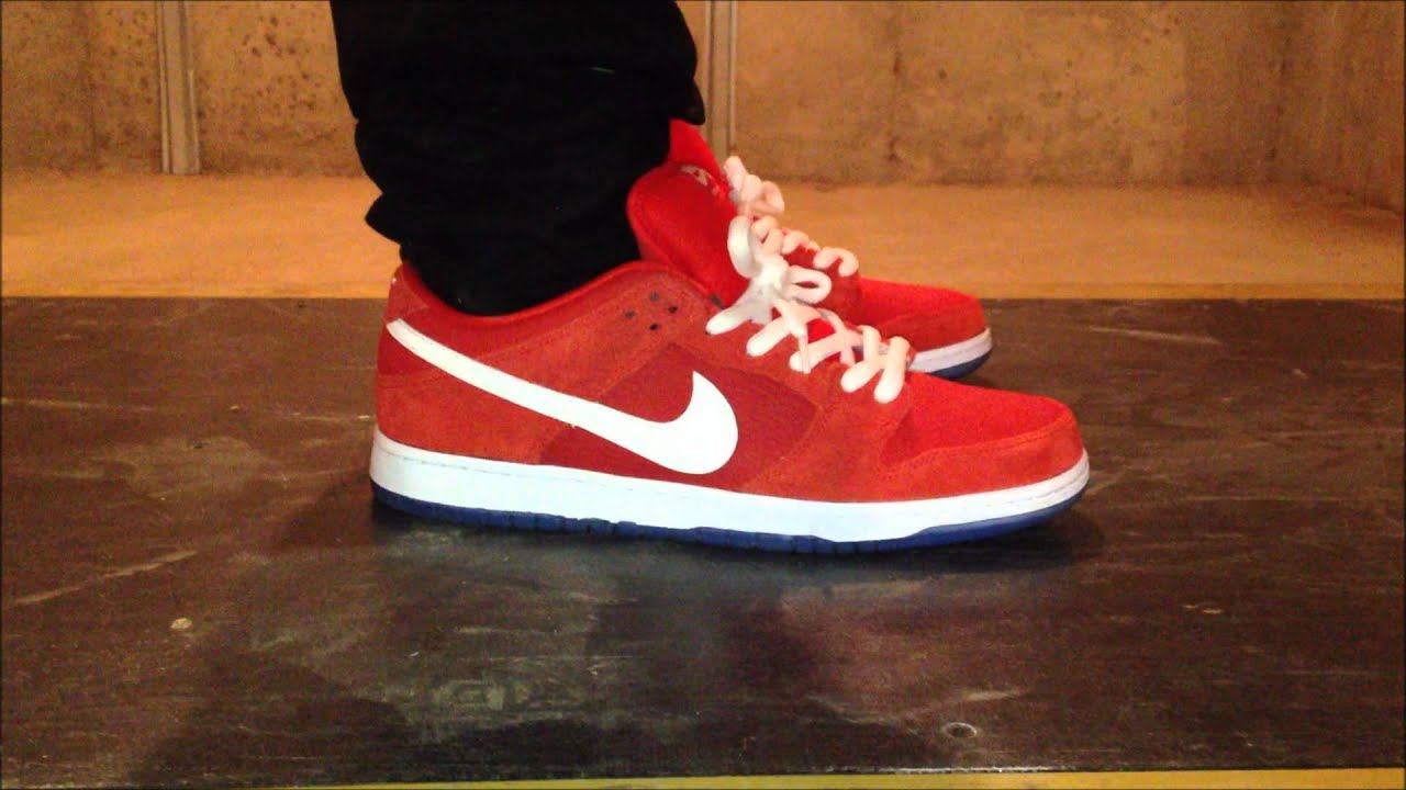 Nike Sb Dunk Low Challenge Red - YouTube 3ad40257d376