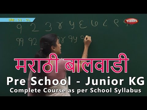 Pre School Syllabus | Marathi Junior Kg Syllabus Complete Course  | मराठी बालवाडी | Learn Marathi