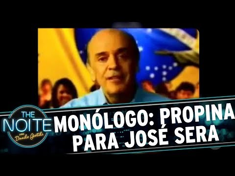 Monólogo: José Serra teria recebido R$ 6 milhões | The Noite (31/08/17)