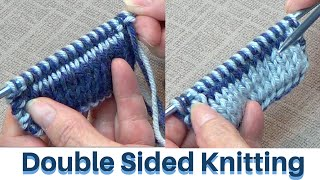 Double Sided Knitting