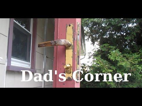How to Remove Storm Door Handle set with Deadbolt