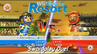 Wii Sports Resort - Swordplay Duel: vs Champion Matt + All Stamps